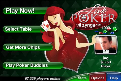 live-poker-menu