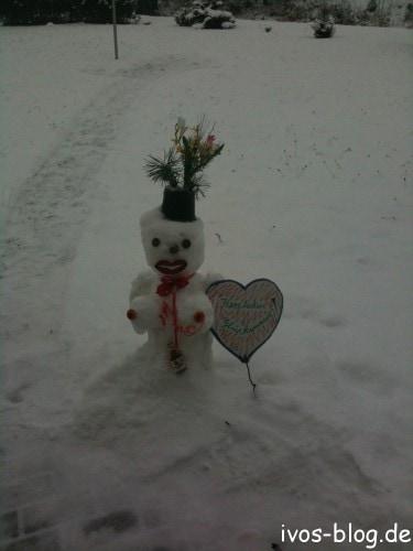 Ein Schneemann mit Titten