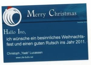 Yaab´s Weihnachtsgrußkarte 2010