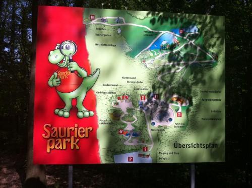 Saurierpark Kleinwelka Parkkarte