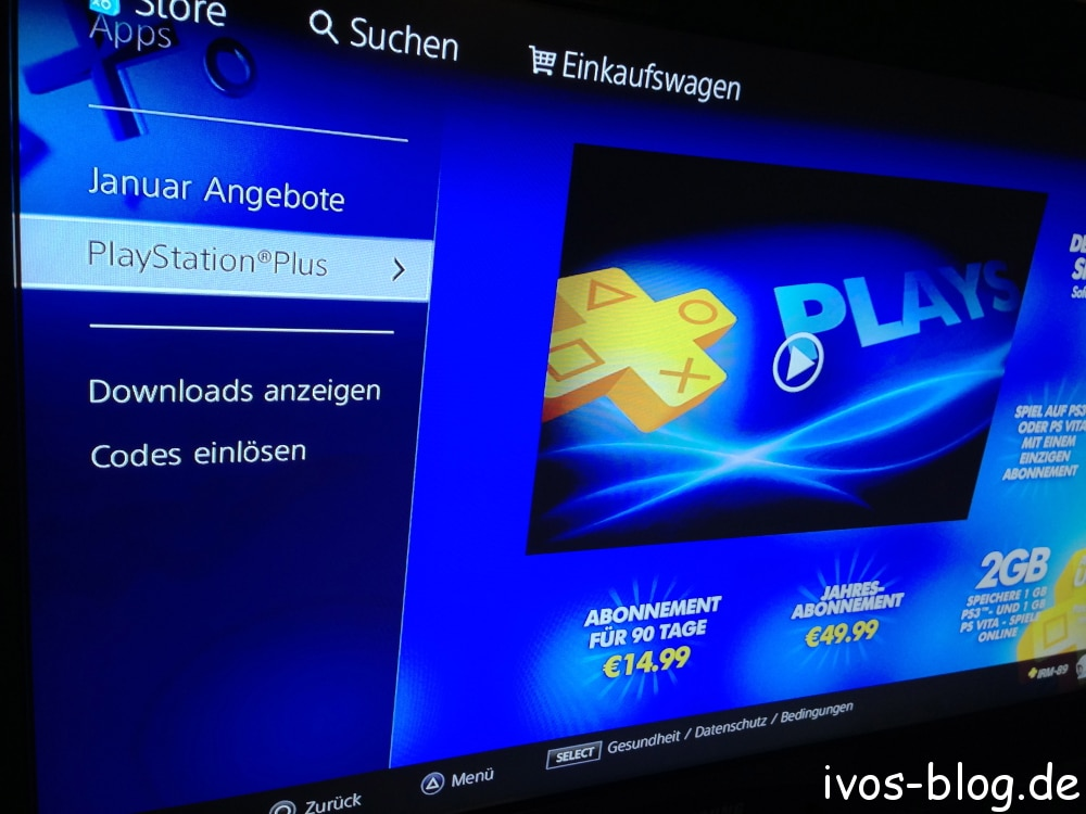 Palystation Plus auf der Playstation 3