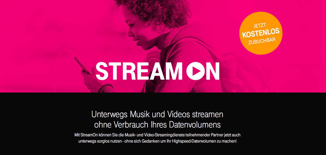 Telekom StreamOn Screen